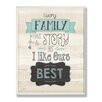 Stupell Industries Every Family Has a Story Textual Art