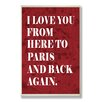 Stupell Industries Love From Paris Typog Wall Textual Plaque