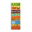 Stupell Industries The Kids Room Play Fair, Run and Laugh Colorful Typography Skinny Rectangle Wall Plaque