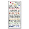 Stupell Industries The Kids Room Playroom Rules Rainbow Skinny Rectangle Wall Plaque