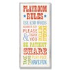 Stupell Industries The Kids Room Playground Rules Part 2 Typography Skinny Rectangle Wall Plaque