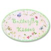 Stupell Industries The Kids Room Butterfly Kisses Oval Wall Plaque