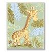 Stupell Industries The Kids Room Giraffe Jungle Rectangle Wall Plaque