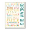 Stupell Industries The Kids Room Dream Big Kids Typography Rules Canvas Art