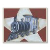 Stupell Industries The Kids Room Train Red with White Star Rectangle Wall Plaque