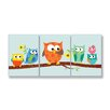 Stupell Industries The Kids Room3 Piece Owls On Branch Rectangle Part 2 Wall Plaques