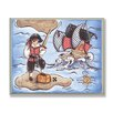 Stupell Industries The Kids Room Pirate On Island Rectangle Wall Plaque