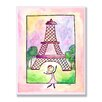 Stupell Industries The Kids Room Girl In Paris Rectangle Wall Plaque