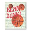 Stupell Industries The Kids Room Slam Dunk Border Rectangle Wall Plaque