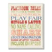 Stupell Industries The Kids Room Playroom Rules Typography Canvas Art