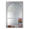 Stupell Industries Faux Window Mirror Screen with Daisies and Shells Painting Print