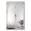 Stupell Industries Faux Window Mirror Screen with Sailboat and Vase of Feathers Painting Print