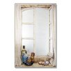 Stupell Industries Faux Window Mirror Screen with Rooster and Oil Painting Print