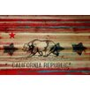 Parvez Taj Cal Repub - Art Print on Natural Pine Wood