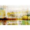 Parvez Taj Orr Lake Graphic Art Plaque on White Wood