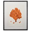 <strong>Mirror Image Home</strong> Tangerine Coral Giclee IV Framed Graphic Art