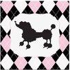 Secretly Designed Princess Poodle Art Print