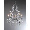 Warehouse of Tiffany 5 Light Crystal Candle Chandelier