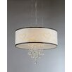 Warehouse of Tiffany Hearts 5 Light Crystal Drum Chandelier