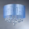 Warehouse of Tiffany Rebecca 4 Light Crystal Drum Chandelier