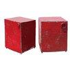 A&B Home Group, Inc 2 Piece Metal Stool Set