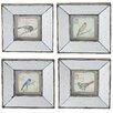A&B Home Group, Inc 4 Piece Birds on A Limb Mirrored Wall Décor Set