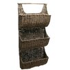 <strong>Baskets Seagrass Three-Part Wall Basket</strong> by TAG