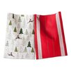 TAG Woodland 2 Piece Prancing Reindeer Dishtowel Set