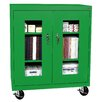 "Sandusky Cabinets Transport 46"" Mobile Clear View Counter Height Storage Cabinet"