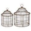 Winward Designs 2 Piece Basket Birdcage Set
