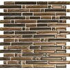 <strong>Brushstrokes Marrone Random Sized Mosaic in Brown Multi</strong> by Epoch Architectural Surfaces
