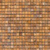 "Epoch Architectural Surfaces 5/8"" x 5/8"" Tumbled Travertine Mosaic in Golden Sienna"