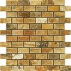 "Epoch Architectural Surfaces Scabos 2"" x 1"" Tumbled Travertine Mosaic in Multi"