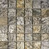 """Epoch Architectural Surfaces 2"""" x 2"""" Tumbled Slate Mosaic in Gold Green"""