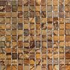 "<strong>Epoch Architectural Surfaces</strong> 1"" x 1"" Tumbled Marble Mosaic in Rain Forest Brown"