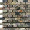 """Epoch Architectural Surfaces 2"""" x 1"""" Tumbled Marble Mosaic in Rain Forest Green"""