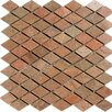 "Epoch Architectural Surfaces 12"" x 12"" Tumbled Slate Diamond Mosaic in Copper"