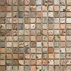 "Epoch Architectural Surfaces 1"" x 1"" Tumbled Slate Mosaic in Copper"