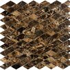 "Epoch Architectural Surfaces 12"" x 12"" Polished Diamond Marble Mosaic in Emperador Dark"