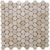 """Epoch Architectural Surfaces 1"""" x 1"""" Polished Marble Hexagon Mosaic in Crema Marfil"""