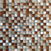 "<strong>Epoch Architectural Surfaces</strong> Desertz Rangipo 5/8"" x 5/8"" Stone and Glass Blend Mosaic in Beige Multi"