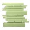 Solistone Piano Random Sized Interlocking Mesh Glass Tile in Tempo