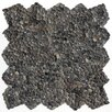 Solistone Decorative Pebbles Random Sized Interlocking Mesh Tile in Barbados Black