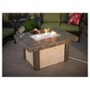 The Outdoor GreatRoom Company River's Edge Crystal Fire Pit Table with Darkland Tile Top and Burner