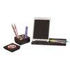 Safco Products Company 4 Piece Splash™ Wood Desk Set