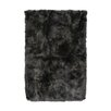 DwellStudio Sheepskin Longwool Steel Rug