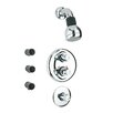 LaToscana Shower Head with Valves and Body Sprays Set