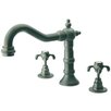 <strong>LaToscana</strong> Ornellaia Double Handle Deck Mount Roman Tub Faucet Trim Cross Handle