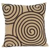 Wayborn Spiral Geometric Reversible Suede Throw Pillow