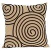 Wayborn Spiral Geometric Reversible Throw Pillow